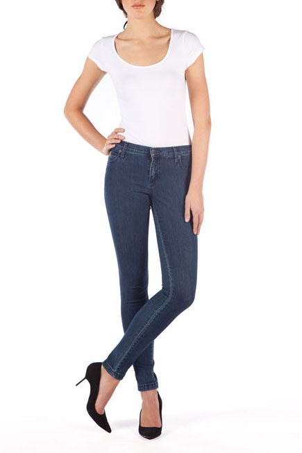 SWP1144NV High Rise Skinny Yoga Jeans in Classic Blue. Made in Canada available in sizes 24-34