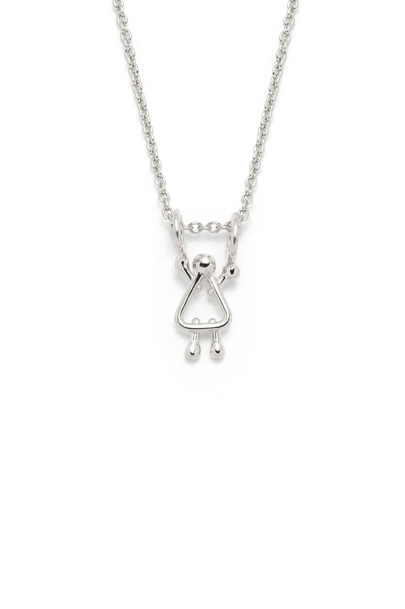 Girl charm on a chain by Lidia in sterling silver