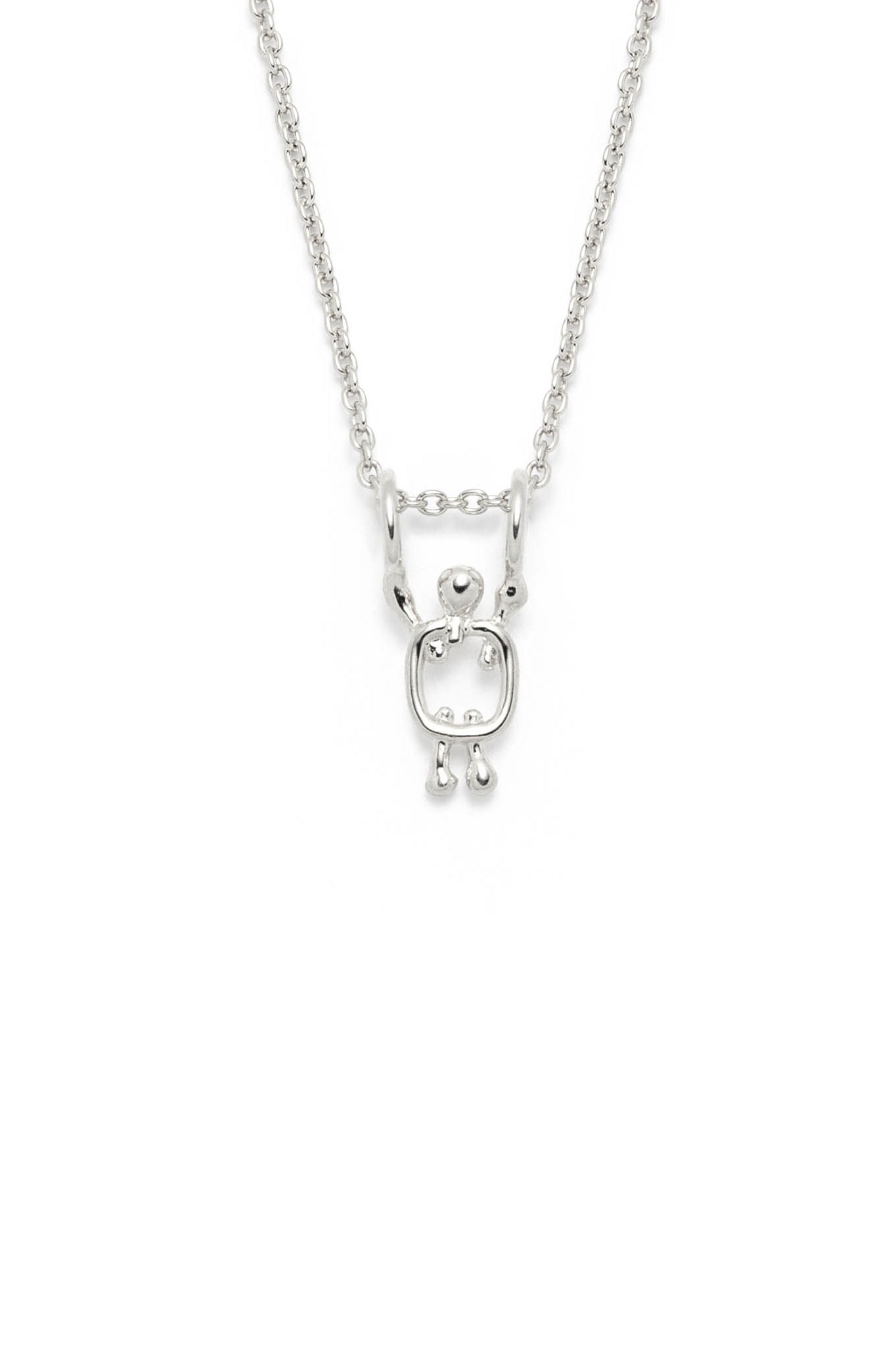 Boy charm by Lidia in sterling silver on a chain