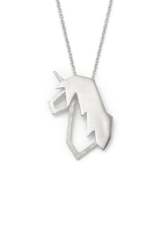 Medium Unicorn Silver Lidia Necklace
