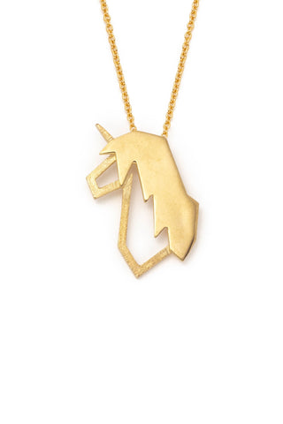 14k Gold P. Brass, Lidia, Medium Unicorn