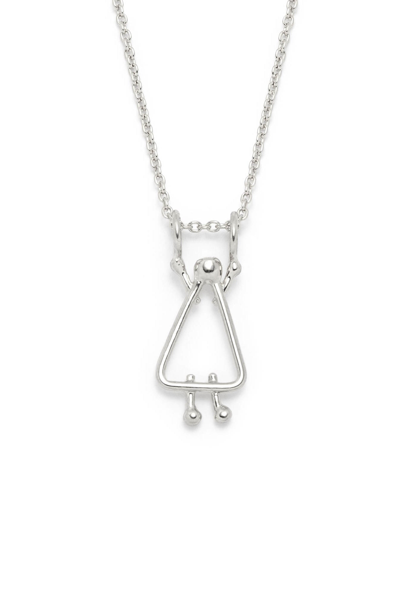 Mom charm on chain by Lidia in sterling silver