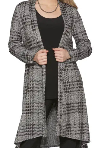 COMPLI K Long Knit Cardigan 31009 FW2020/2021 (front view, detail)