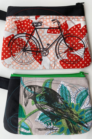 Cynthia Dm waterproof pouches-Bicycle and Crow