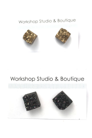 Resin Stud Earrings