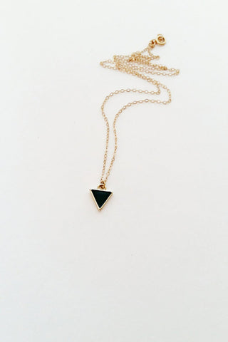 Epoxy Triangle Necklace