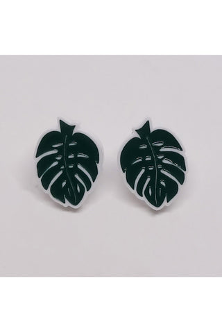 Lili0715 Monstera Leaf Earrings