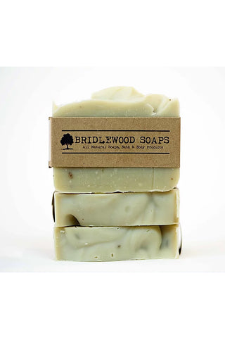 BRIDLEWOOD SOAPS French Clay Lavender Soap Bar (stacked)
