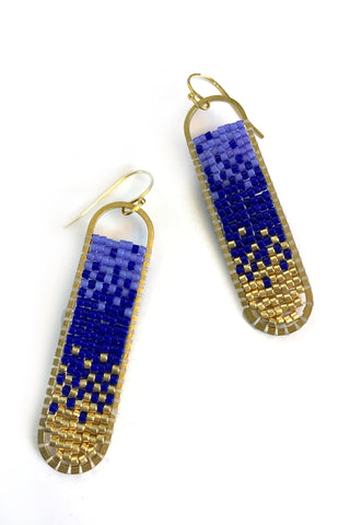 Freya -Ombre Hand Beaded Earrings
