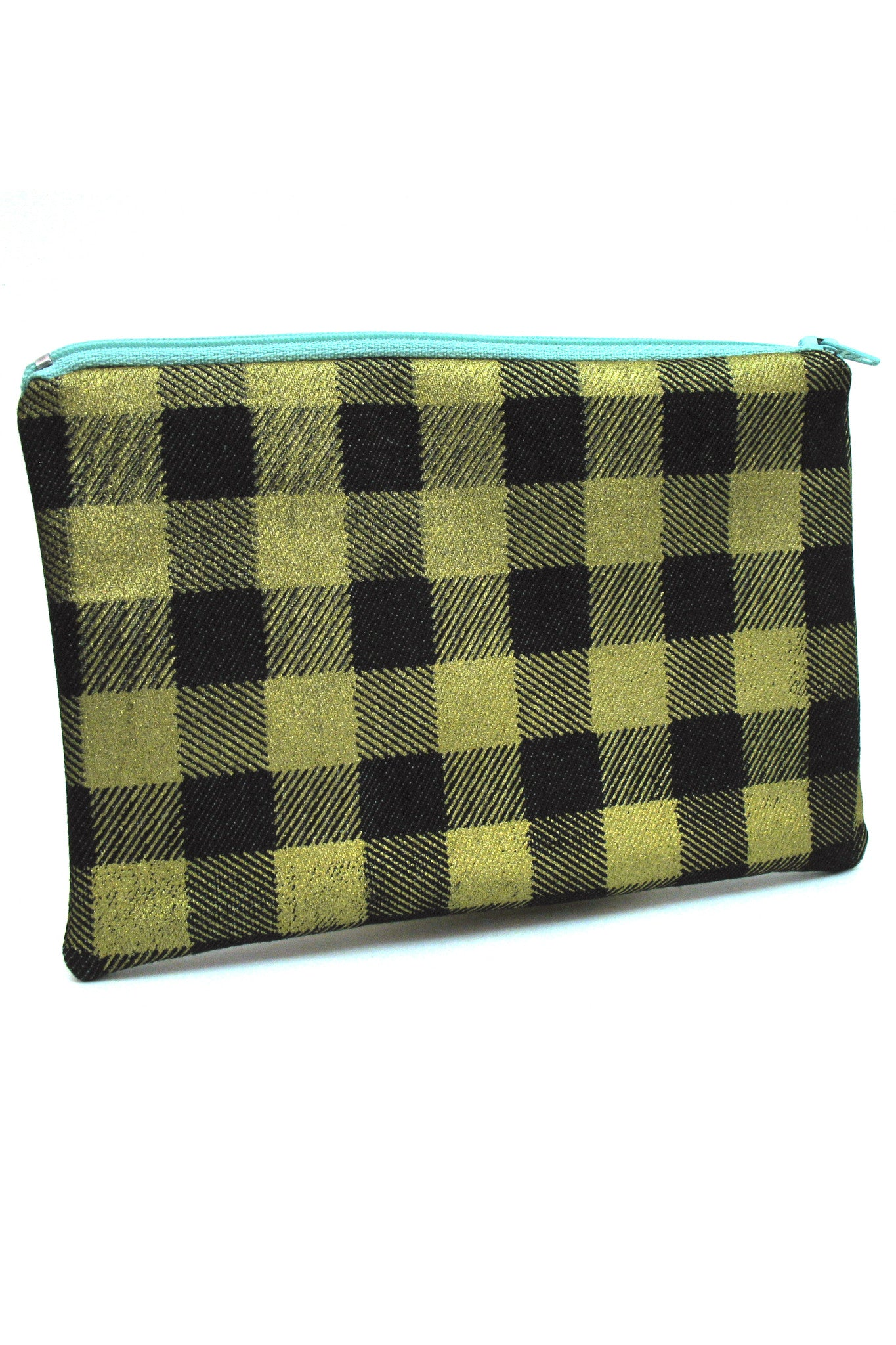 Gold Buffalo Plaid Pouch