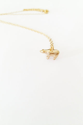 Teeny Bear 14kt Gold Plated Necklace