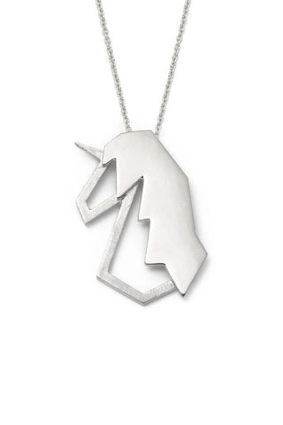 Big Unicorn Silver Lidia Necklace