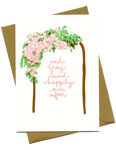Happily Ever After Kiss the Paper Card