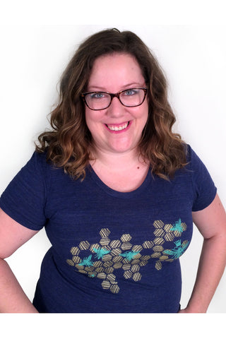 Honeycomb and Bees - Charcoal Women's Tee