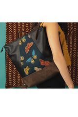 Hobart Backpack for laptop - Japanese Teal Butterfly