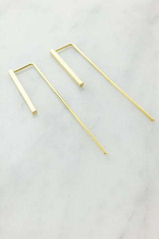 Dainty Bar Drop Earrings