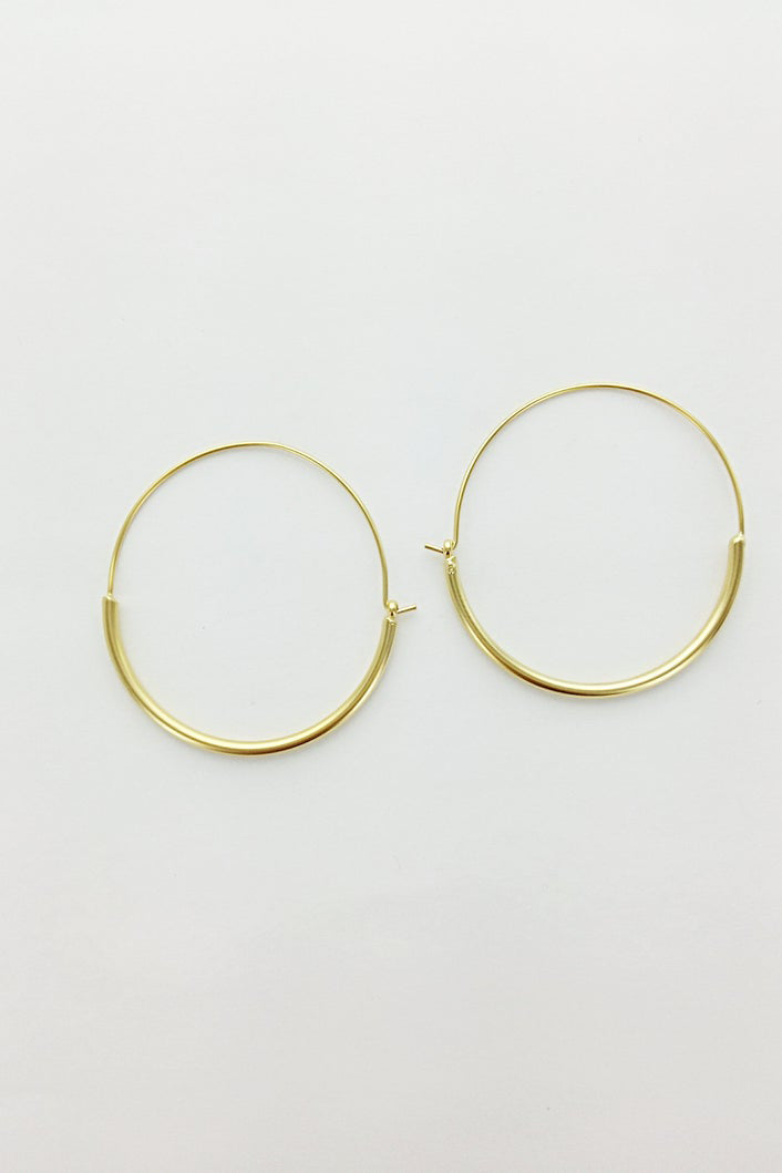 Thick Bottom Hoop Earrings