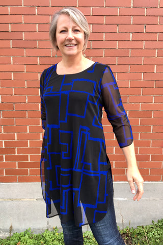Blue Geometric Tunic 31069