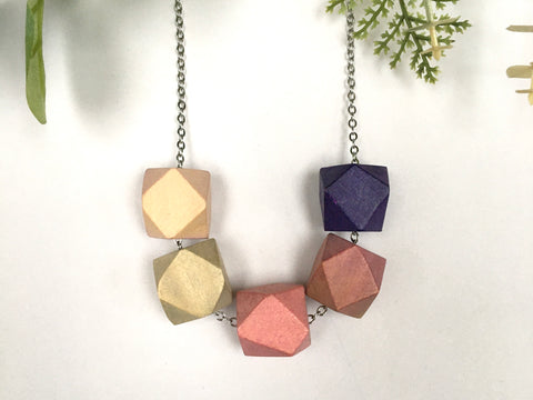 Wooden Hex Necklace