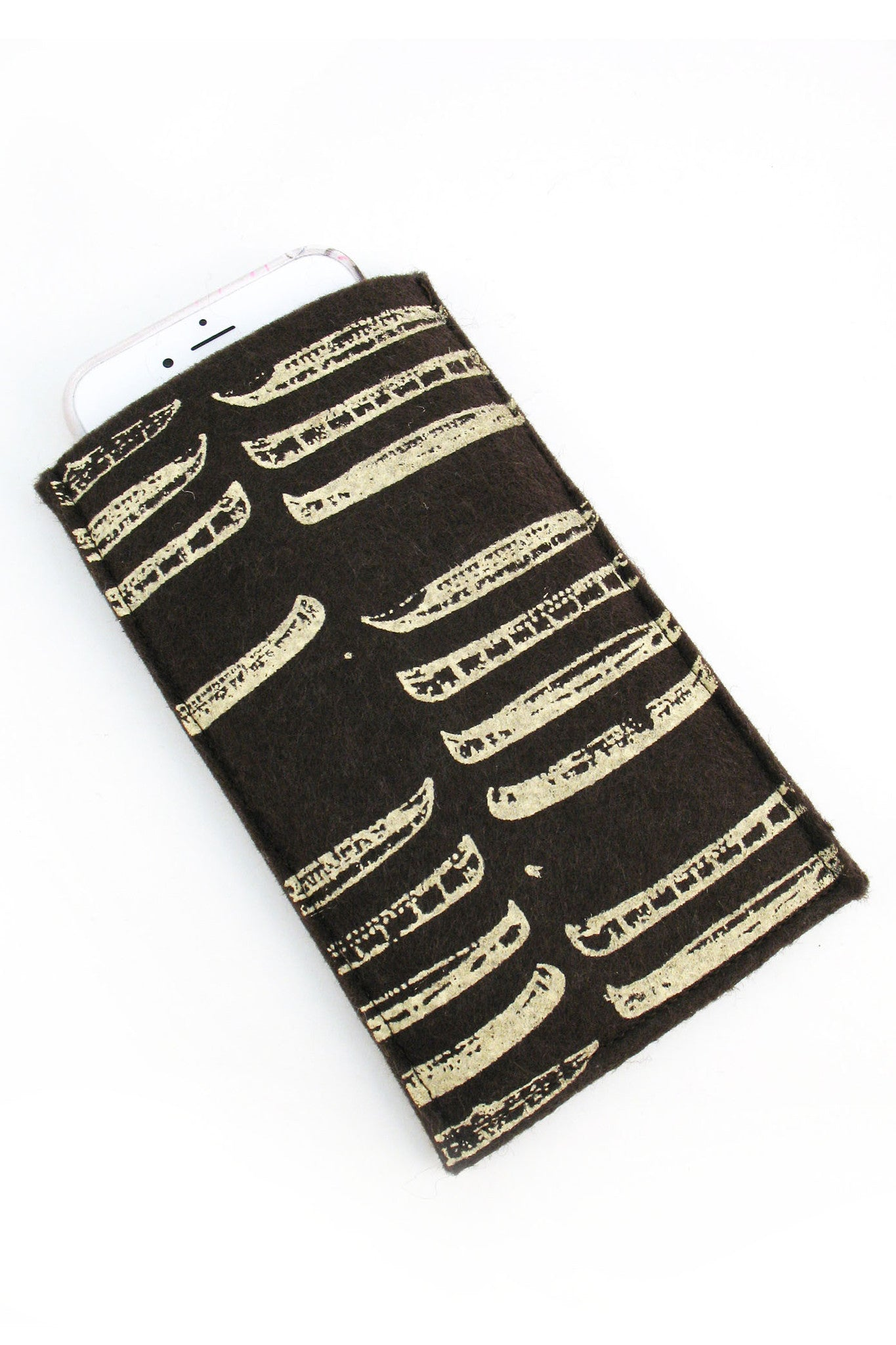 Handmade iPhone Cozy - Canoes
