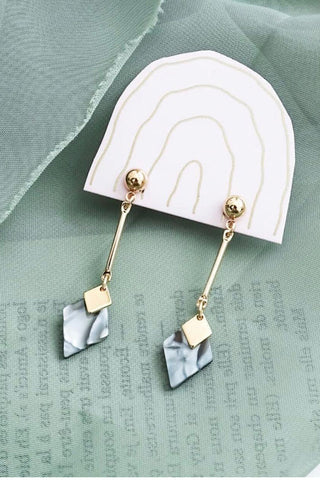 Jasmine Rhombus drop earrings - Assorted Colours