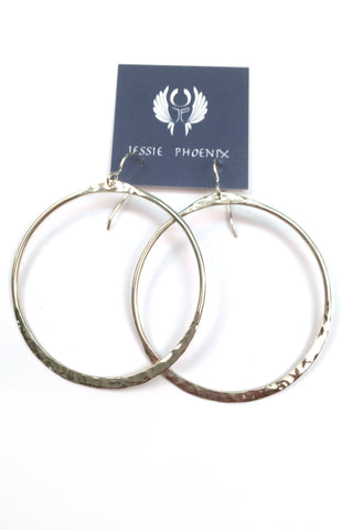 Jessie Phoenix - Large Half Hammered Hoops