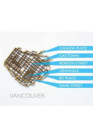 "The National Design Collective Vancouver ""I Kinda Like it Here"" Wood Coaster. Made in Canada"