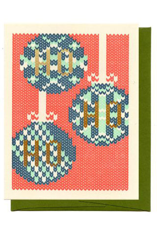 Knitted Bulbs Card