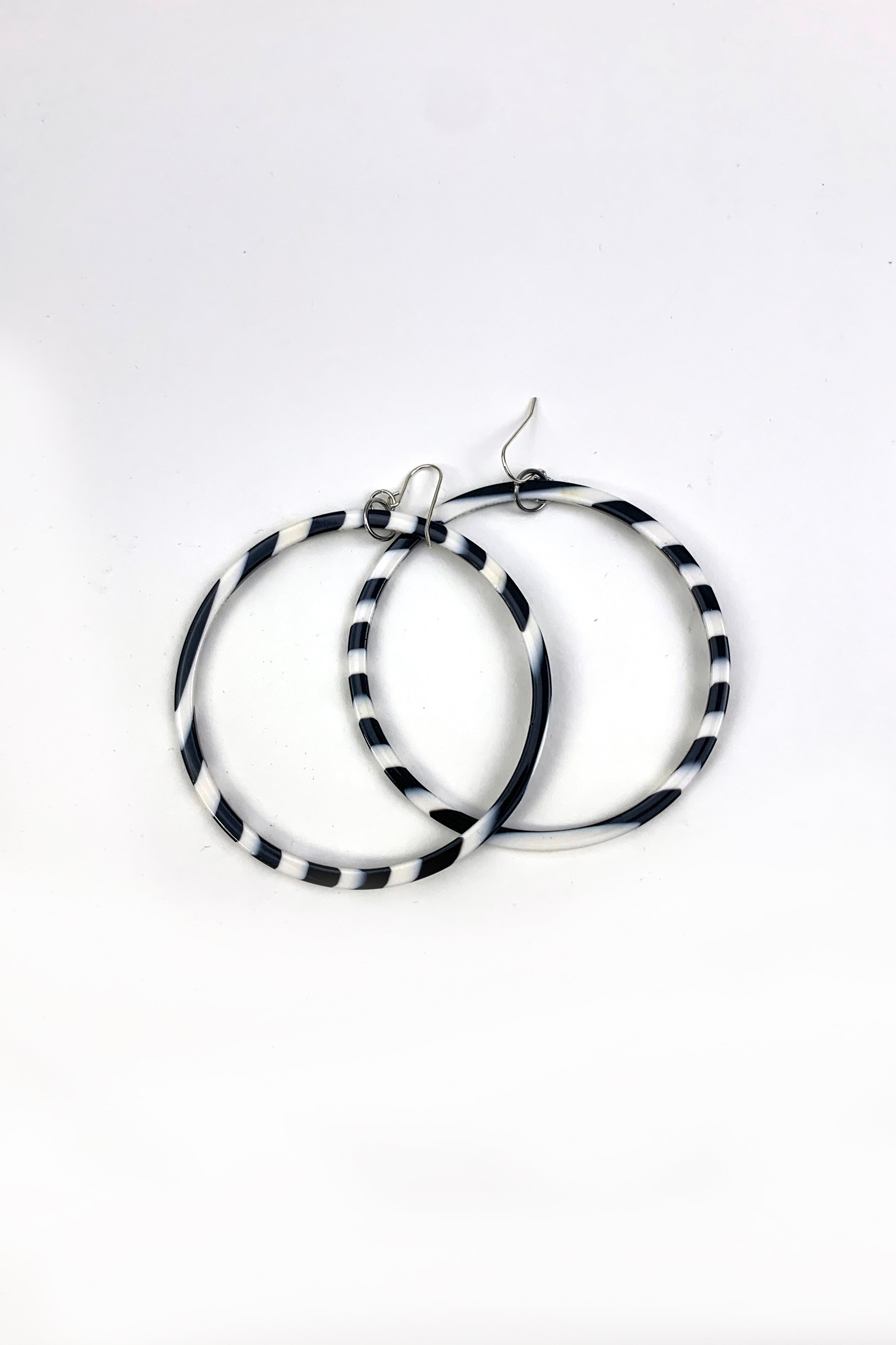 XXL Cellulose Acetate Round Hoop Earrings