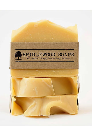 BRIDLEWOOD SOAPS Lemongrass Carrot Soap Bar (stacked)