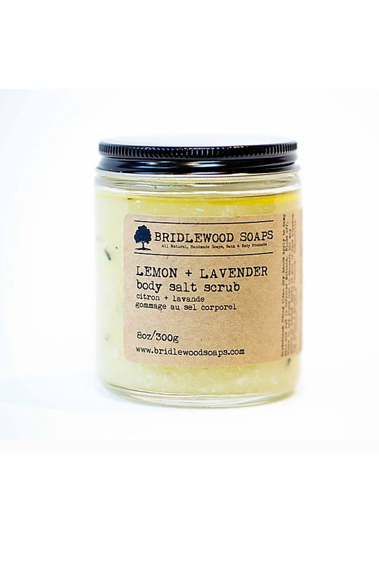 BRIDLEWOOD SOAPS Lemon & Lavender Body Salt Scrub