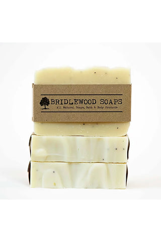BRIDLEWOOD SOAPS Lemon Poppyseed Soap Bar (stacked)