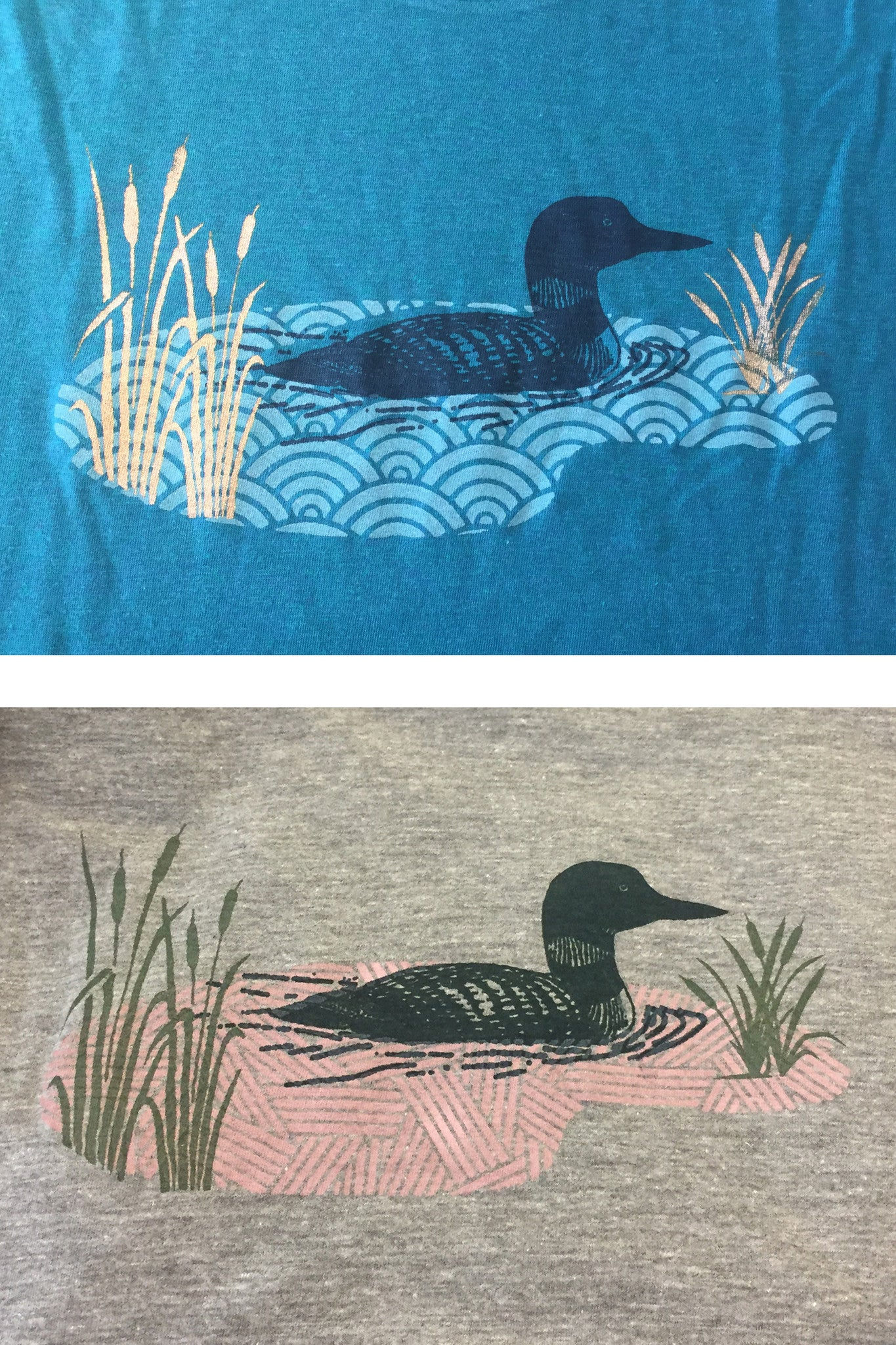 loon and lake printed detail