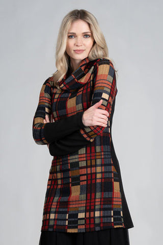 DINH BA Love Tunic in Colourful Plaid FW2020/2021