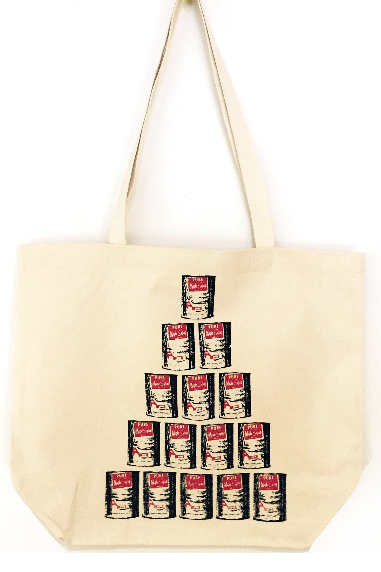 Hand Silk-screened Warhol Inspired Maple Syrup Canadian Tote Bag, Handamde in Ottawa Canada