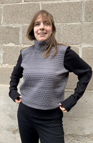 COPIOUS Milly Sweater in Grey and Black FW2020/2021 (front view)