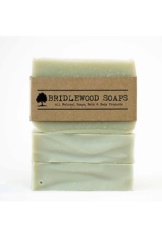 BRIDLEWOOD SOAPS Mint Rosemary Soap Bar (stacked)