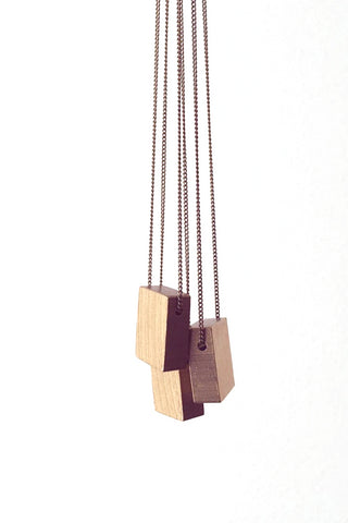 Moog Necklace Raw Brass from Darlings of Denmark. Made in Montreal, QC