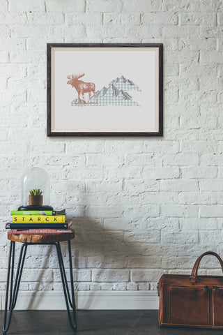 Mountain Moose Print
