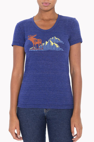 Neon Wolf and Moon - Athletic Grey Women's Tee