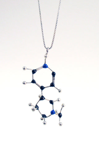 Wear your vice with this handmade Slashpile Nicotine Molecule Necklace