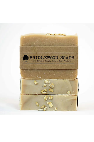BRIDLEWOOD SOAPS Oatmeal Honey Soap Bar (stacked)