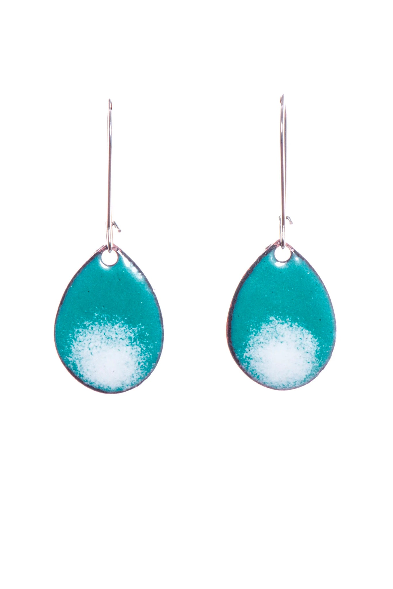 Teardrop Ombre  Enamel Earrings