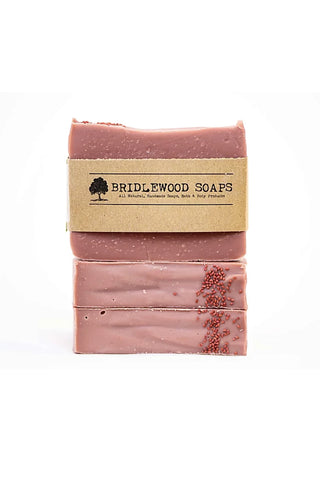 BRIDLEWOOD SOAPS Cranberry Orange Soap Bar (stacked)