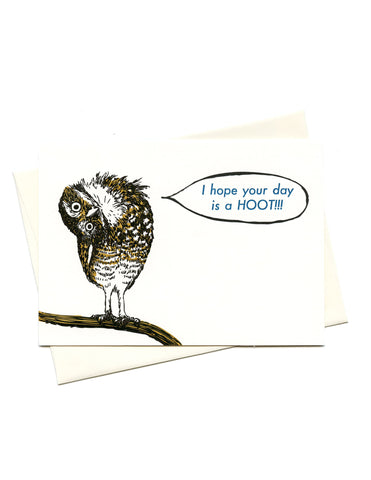 Owl Hoot Kiss the Paper Card