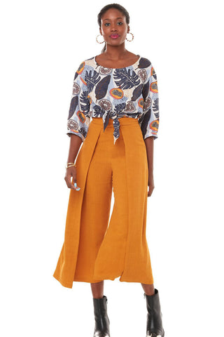 Cuba Libre Wide Leg Pants Annie 50 Yellow Front