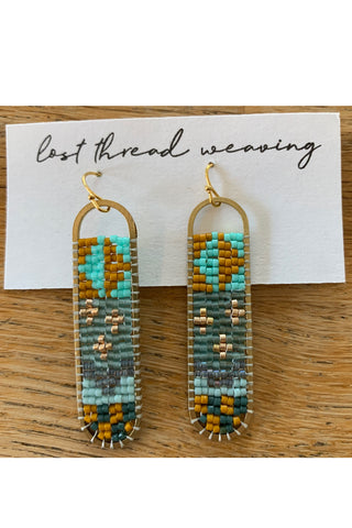 Freya Beaded Earrings - patchwork - MADE TO ORDER