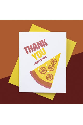 Pizza Thanks Inkwell Originals Card