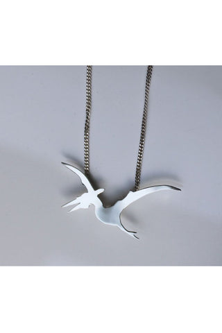 Pterodactyl Silver Necklace