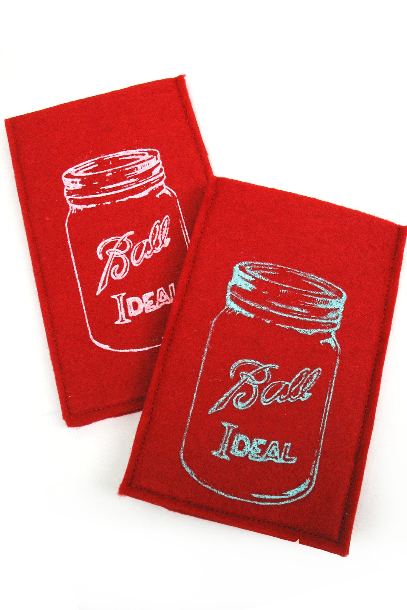 Handmade iPhone Cozy - Red Mason Jar
